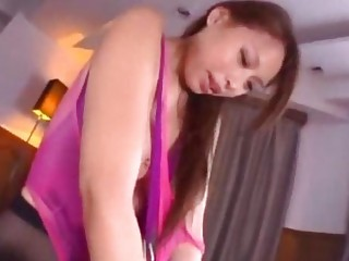 Asian Girl In Pantyhose And Swimsuit Handcuffed Jelly On Body Fucked Getting Facial On The Bed In The Room