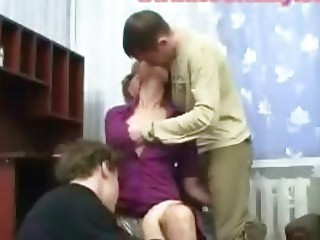 mature lady gangbanged by students