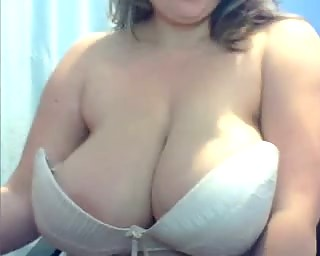 Fat whore with big boobs sucking and fucking her boyfriend on cam