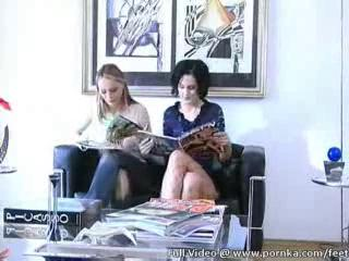 lesbian step sisters gettingvideo off with sexy feet and toes