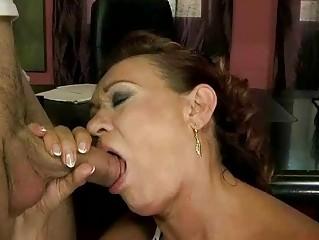 Nasty old bitch getting fucked pretty hard