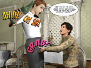 PLEASING GAY CUSTOMER 3D Cartoon Comic Anime Story