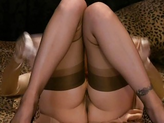 Softcore MILF Masturbations with Hotties in Stockings