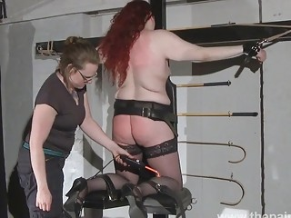 Lesbian domination of Louise and kinky spanking