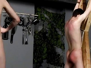 Male models Victim Aaron gets a whipping, then gets his crevice