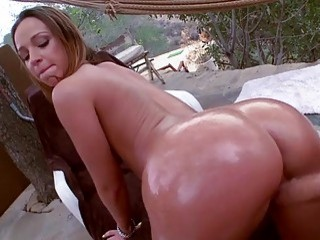 Big butt Jada Stevens slammed outdoors