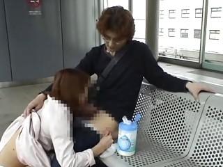 Subtitles Japanese public blowjob train streaking