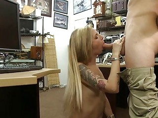 Blonde babe pounded by nasty pawn guy