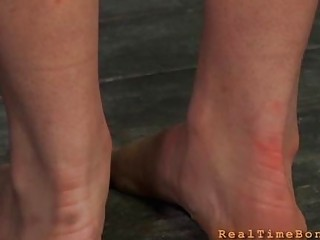 Cutie receives wild agony for her shaved snatch