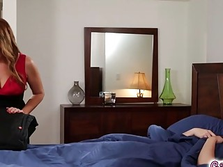 Alison Rey licks Elexis Monroes nipple and pussy