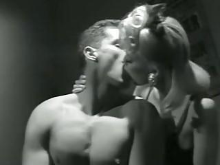Seductive blonde secretary gets drilled in a vintage porn video