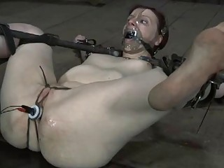 Stupid slave bitch likes to be tortured and molested hard