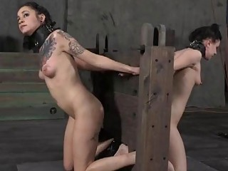 Brave angel is getting beating on her sexy ass