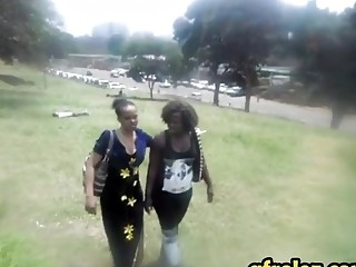Two chubby ebony lesbian sluts having some fun