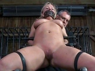 Gagged girl made to submit