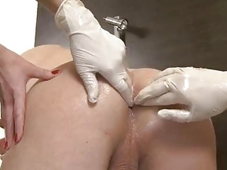 Two kinky Mistresses shake dudes prostate with huge strap-on dildos