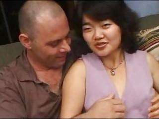 Hairy Korean Girl Sucks Fucks and gets a Facial