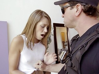 Naughty whore fucked by a cop cock as a punishment