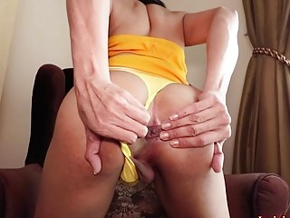 Thai Shemale Khawn With Anal Beads In The Ass