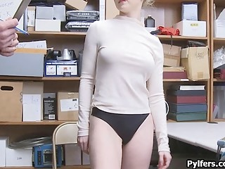 Perky cleptomaniac beauty busted and fucked