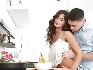 Ardent Lovemaking with Tanned Young Brunette Nita Star