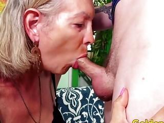 Golden Slut  Older Ladies Show off Their Cock Sucking Skills Compilation 3