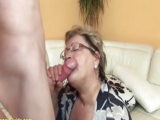 chubby hairy grandma in love with stepson
