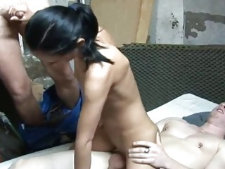 Threesome For Sexy Dutch Teen