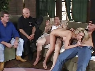 DP 3some For Blonde Swinger Wife
