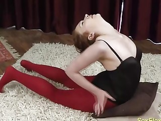 cute stepsister bending like a contortionist