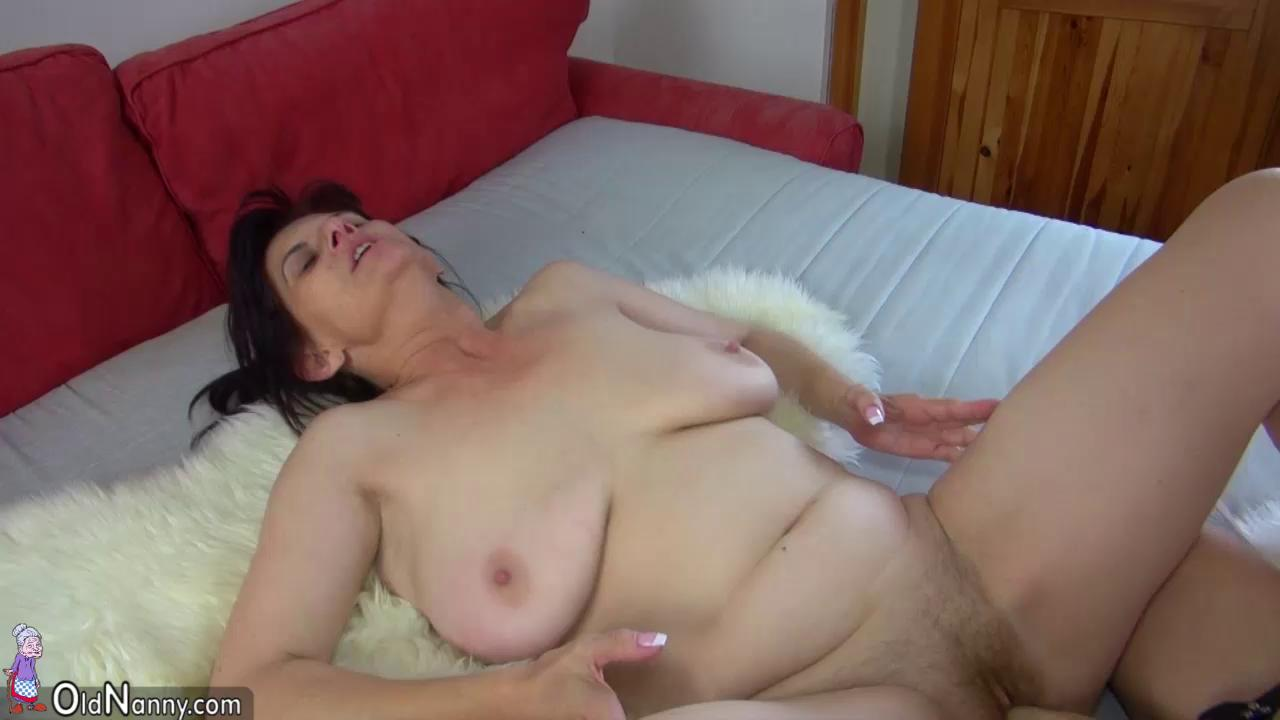 couch cock stroking with busty milf charlee chase